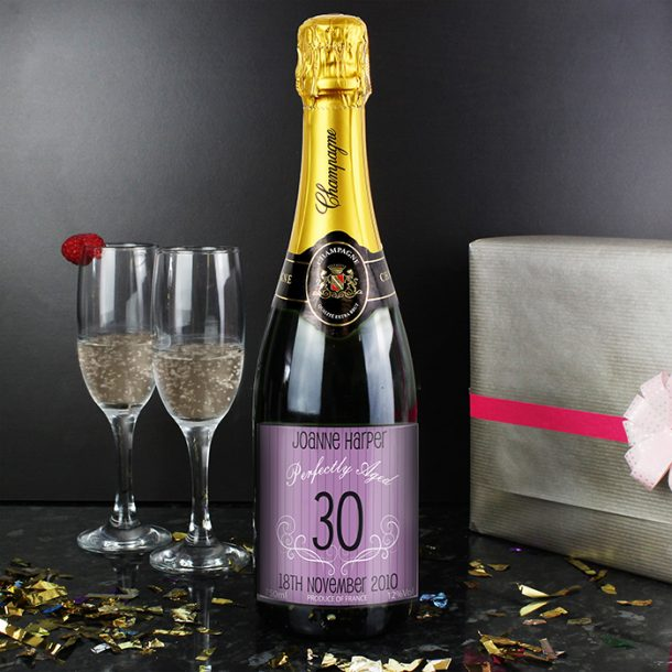 Personalised Age Champagne Purple