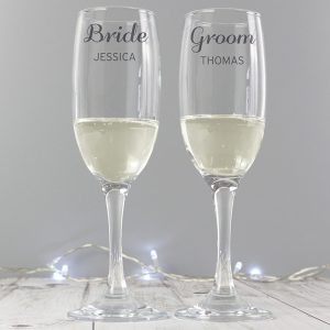 Personalised Classic Pair of Flutes & Gift Box