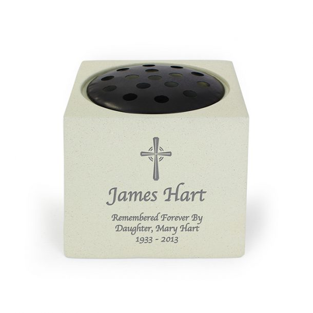 Personalised Cross Memorial Vase