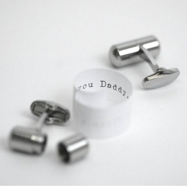 Personalised Deluxe Secret Message Cufflinks