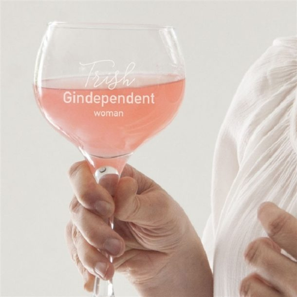 Personalised Gindependent Woman Gin Glass