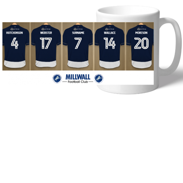 Personalised Millwall Dressing Room Mug