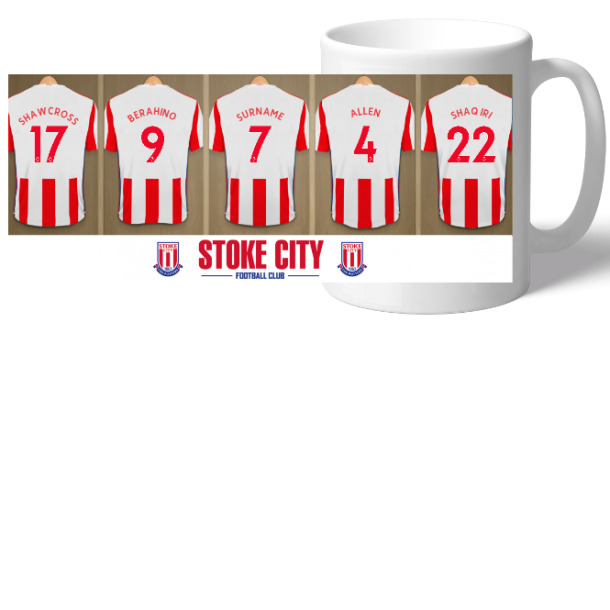 Personalised Stoke City Dressing Room Mug