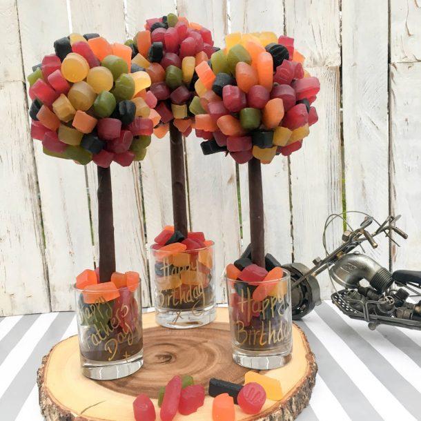 Personalised Wine Gum Sweet Trees