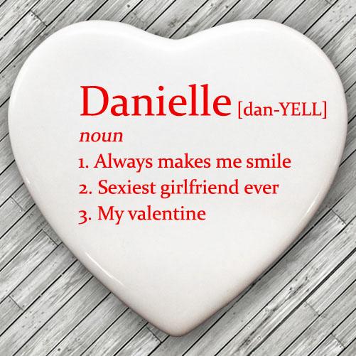 Definition of My Valentine Heart Keepsake