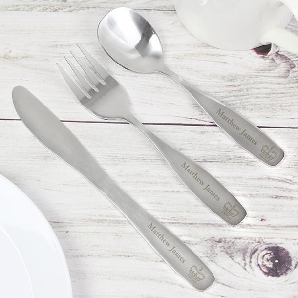 Personalised 3 Piece Prince Cutlery Set
