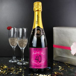 Personalised Age Champagne Pink