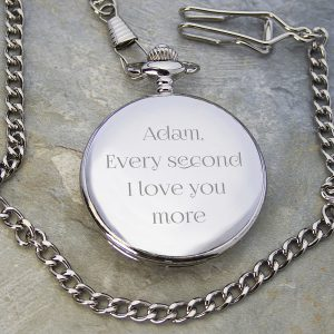 Personalised Any Message Pocket Watch