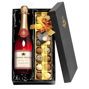 Personalised Any Occasion Sparkling Rosé Wine & Chocolates Giftpack