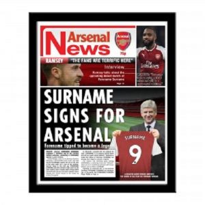 Personalised Arsenal FC Newspaper