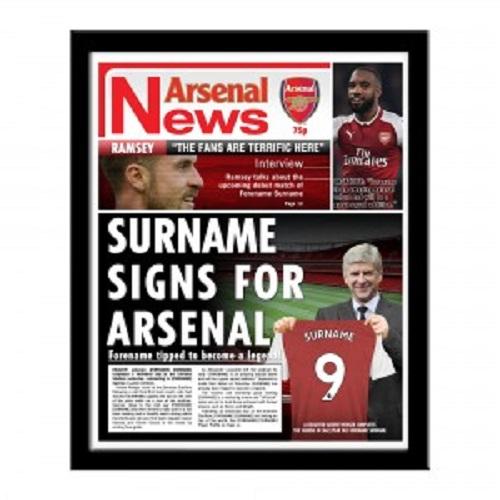 Personalised Arsenal FC Newspaper
