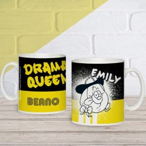 Personalised Beano Big Heads Minnie Mug