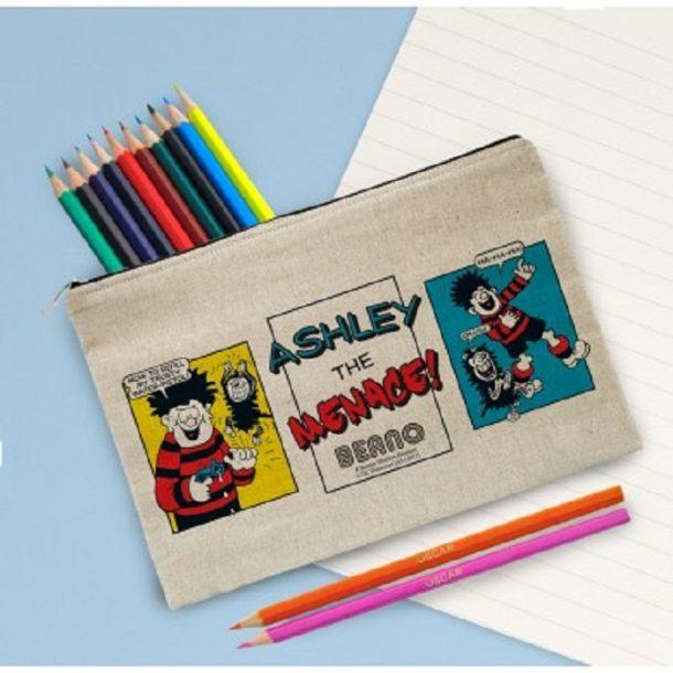 Personalised Beano Classic Pencil Case & Pencils