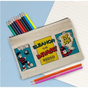 Personalised Beano Classic Top Dog Pencil Case & Pencils