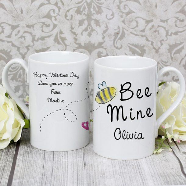 Personalised Bee Mine Slim Mug