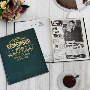 Personalised Birthday Edition Newspaper Book