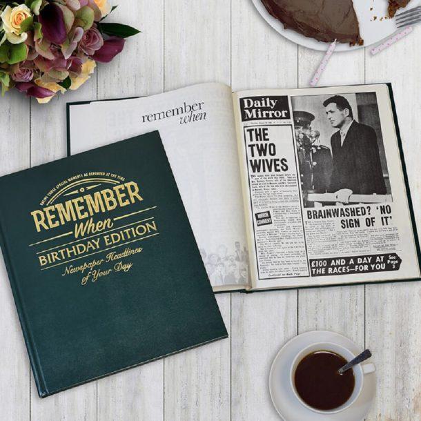 Personalised Birthday Edition Newspaper Book