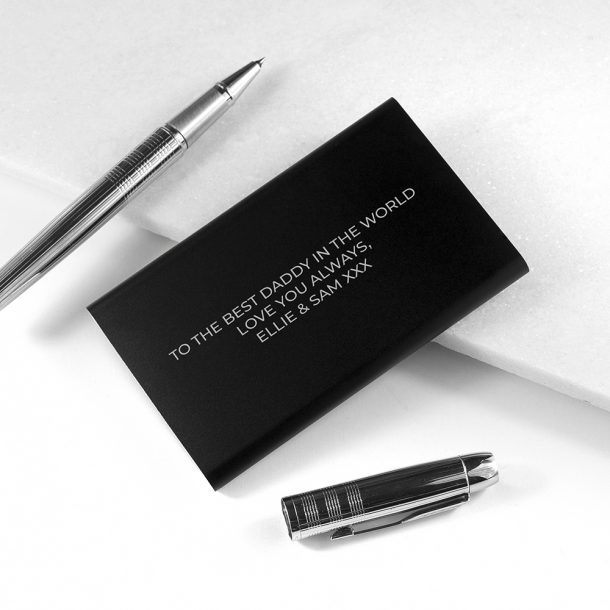 Personalised Black Powerbank