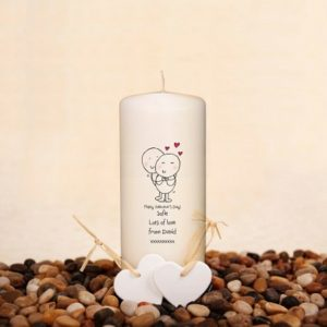Personalised Chilli & Bubble's Valentines Candle