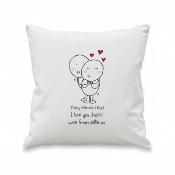 Personalised Chilli & Bubbles Valentine's Cushion Cover