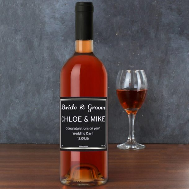 Personalised Classic Rose Wine