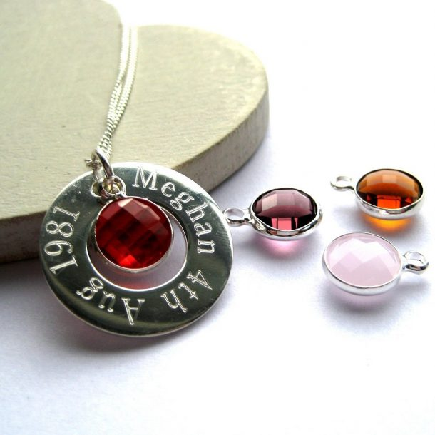 Personalised Eternity Birthstone Necklace