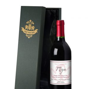 Personalised French Valentine's Day Red Wine & Gift Box