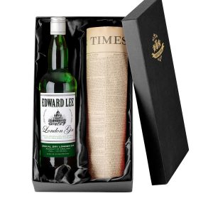 Personalised Gin with Newspaper Gift Set