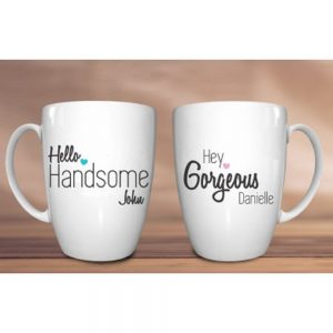 Personalised His and Hers Mug Set
