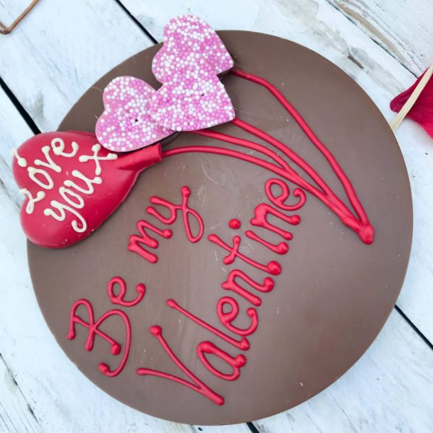 Personalised Large Chocolate Valentine Letterbox Thought