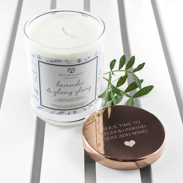 Personalised Lavender & Ylang Ylang Scented Jar Candle