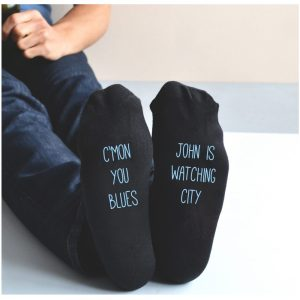 Personalised Manchester City Socks