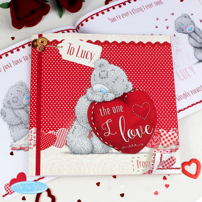 Personalised Me To You The One I Love Poem Book Love My Gifts