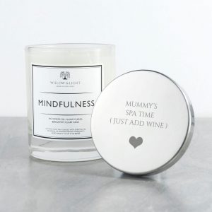 Personalised Mindfulness Luxury Scented Jar Candle