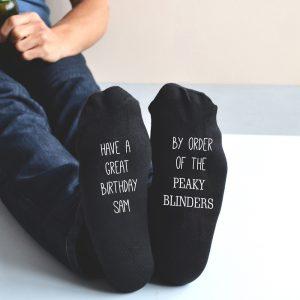 Personalised Peaky Blinders Birthday Socks