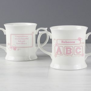 Personalised Pink ABC Loving Mug