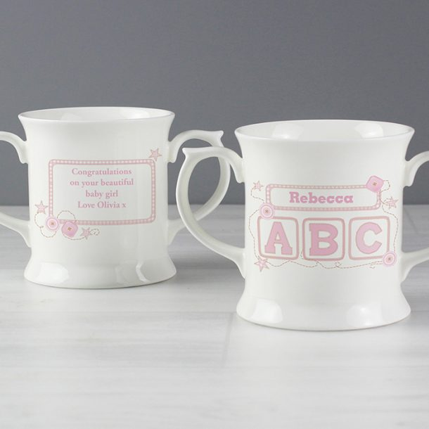Personalised Pink ABC Loving Mug