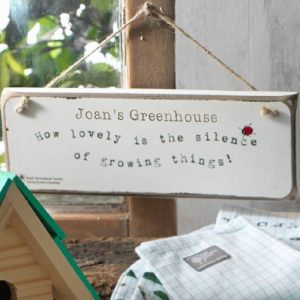 Personalised RHS Hanging Sign