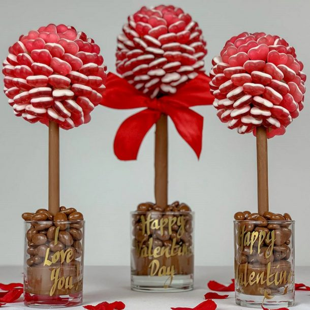 Personalised Red Haribo Heart Sweet Trees