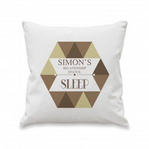 Personalised Relationship Status Cushion Cover