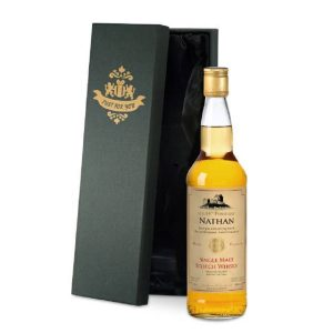 Personalised Single Malt Whisky & Silk Lined Gift Box