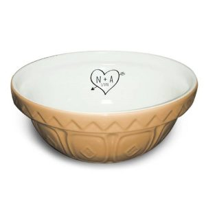 Personalised Sketch Heart Mixing Bowl