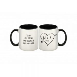 Personalised Sketch Heart Mug