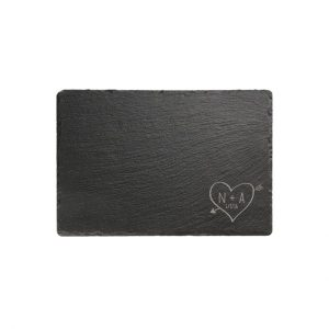 Personalised Sketch Heart Rectangular Slate chopping board