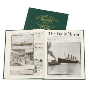 Personalised Titanic Newspaper Book