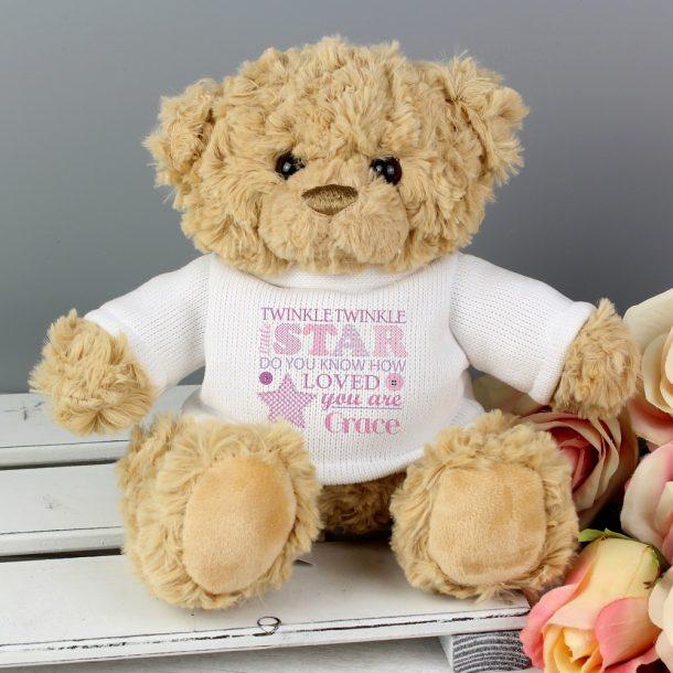 Personalised Twinkle Twinkle Girls Teddy