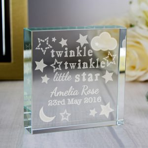 Personalised Twinkle Twinkle Large Crystal Token