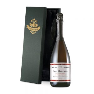 Personalised Valentine's Day Prosecco & Silk Lined Gift Box