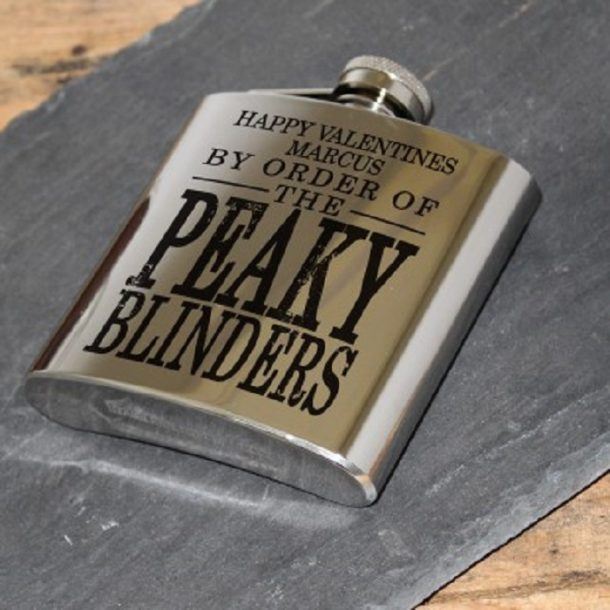 Personalised Valentine's Peaky Blinders Hip Flask