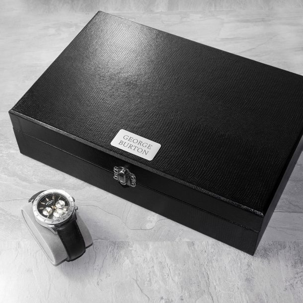 Personalised Watch & Cufflinks Box